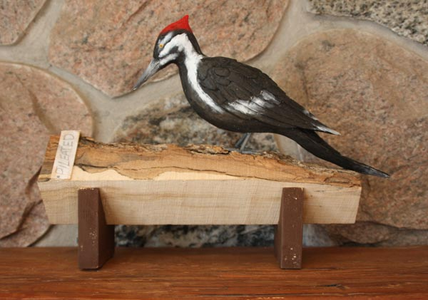 Pileated Woodpecker Carving